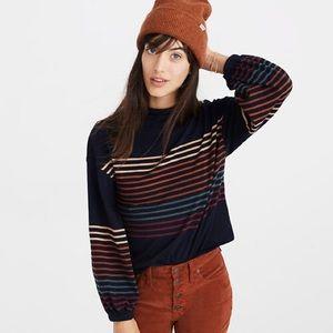 Madewell Bubble Sleeve Mockneck Sweater